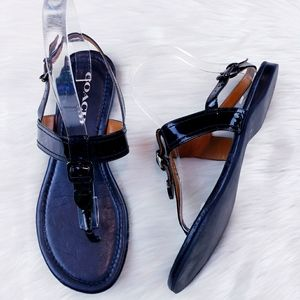 Coach Cassidy Buckle Sandals GUC